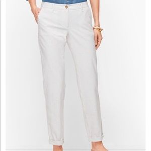 Talbots striped relaxed chinos. Size 2.